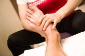 Cihinese foot acupuncture massage