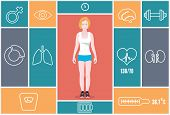 Infographic Of Fitness And Health Indicators. Health And Training