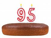 Birthday Cake Candles Number 95 Isolated