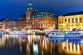 Night scenery of Stockholm, Sweden