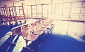 Retro Filtered Picture Of Waiting Room.