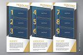 Brochure Leaflet Design Tri-fold Vector Template