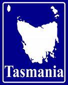 Silhouette Map Of Tasmania