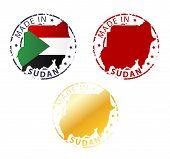 Made In Sudan Stamp