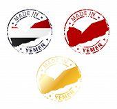 Made In Yemen Stamp