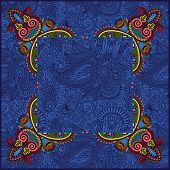 ethnic ukrainian ornament on paisley background