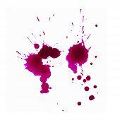 Blots Of Purple Paint