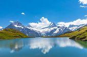 Bachalpsee And The Snow Peaks Of Jungfrau Region