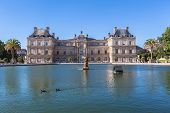 Luxembourg Palace In Jardin Du Luxembourg