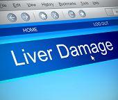 Liver Damage Concept.