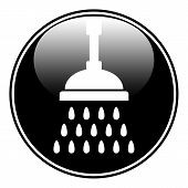stock photo of douche  - Shower icon on white background - JPG
