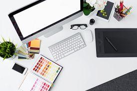 stock photo of creativity  - Photo of creative professional designer - JPG
