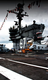 picture of awacs  - On deck of USS John F. Kennedy  - JPG