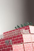 image of underdog  - Gray toy army men up against impossible odds in uphill battle - JPG