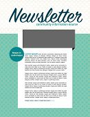 image of newsletter  - Page layout newsletter for use with business or nonprofit - JPG