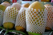 stock photo of papaya  - Fresh papaya fruit in tropical island - JPG