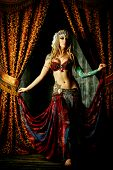 stock photo of belly-dance  - Beautiful traditional female dancer - JPG