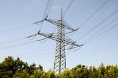 foto of voltage  - High Voltage Electric Transmission Tower Energy Pylon - JPG