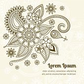 picture of mehndi  - Vector abstract floral elements in mehndi indian style - JPG