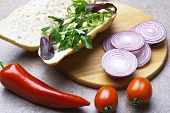 picture of tomato sandwich  - Sandwich with tomatoes - JPG