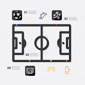 foto of offside  - football line infographic - JPG