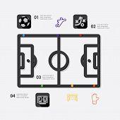 foto of offside  - football line infographic - JPG