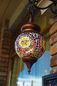 pic of lamp shade  - Traditional vintage Turkish lamp - JPG