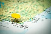 pic of carnival rio  - map marked with the location of rio de janeiro - JPG