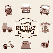 stock photo of jukebox  - retro device design - JPG