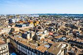 picture of bordeaux  - aerial view of the city of Bordeaux in france - JPG