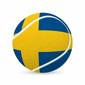 foto of sweden flag  - Baseball with flag of Sweden - JPG