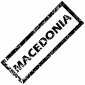 image of macedonia  - Vector rubber stamp with name MACEDONIA - JPG