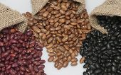 stock photo of kidney beans  - Kidney beans - JPG