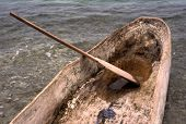 Dugout Wooden Canoe & Paddle, Haiti