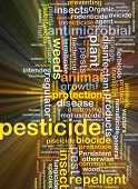 pic of pesticide  - Background concept wordcloud illustration of pesticide glowing light - JPG
