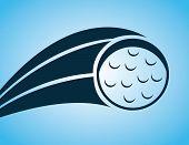 picture of miniature golf  - golf design over blue background vector illustration - JPG