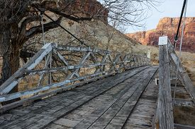 pic of corps  - This San Rafael Bridge is 167 feet long and was built by the Civilian Conservation Corps in the spring of 1937 - JPG
