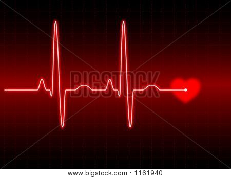 Picture or Photo of Illustration of an electrocardiogram (ecg) #2. see my portfolio for more.