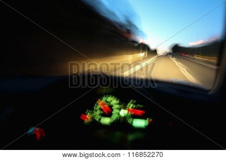 Driving Car Dangerously At Night