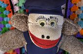 picture of sock-monkey  - hand - JPG