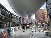 Ads Run On Screens Of Fashion Show Plaza Area