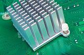 Aluminium Heatsink On Circuit Board