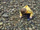 Child Exploring Beach