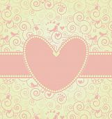 Sweet Valentine's Day Card in Pink