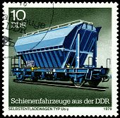 Vintage  Postage Stamp. Self -unloading Freight Car Us-y.