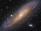 Постер, плакат: M31 Great Galaxy in Andromeda Constellation