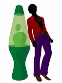 African American Disco Guy Silhouette Illustration