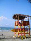 Life Guard Post At Beach