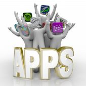 Apps - Word en mensen juichen