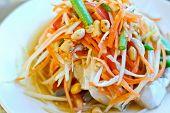Thai Style Spicy Papaya Salad poster